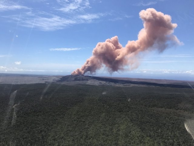 Columna de cendra del volcà Kilauea