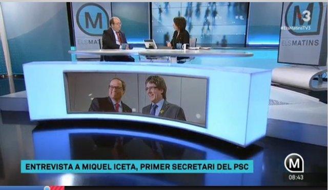 Miquel Iceta a Tv3