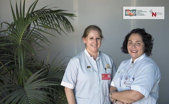 Ana Mateo y Nerea Elizondo, enfermeras participantes