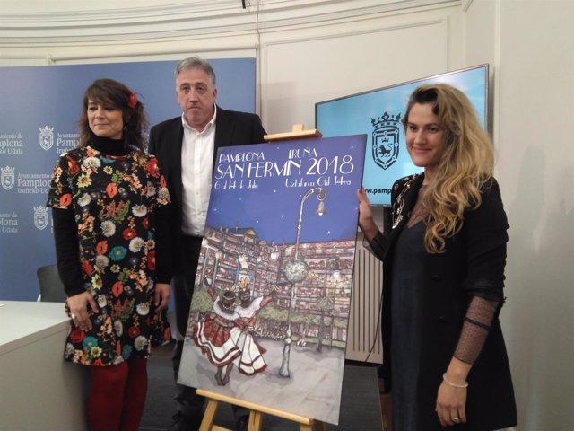 Cartel ganador de los Sanfermines 2018.