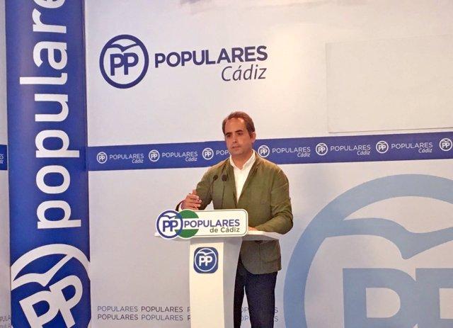 El secretario general del PP de Cádiz, Antonio Saldaña
