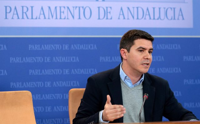 El diputado de Cs Sergio Romero en rueda de prensa