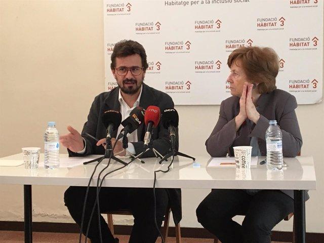 El director general de Hàbitat3 Xavier Mauri, y la presidenta, Carme Trilla