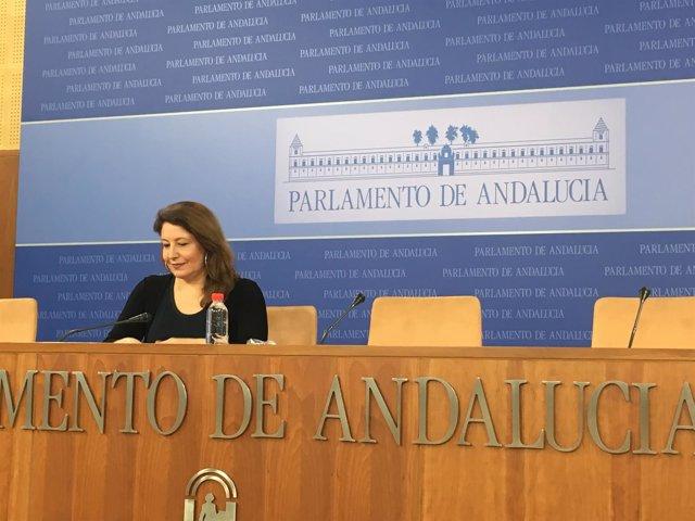 Carmen Crespo (PP-A), en rueda de prensa