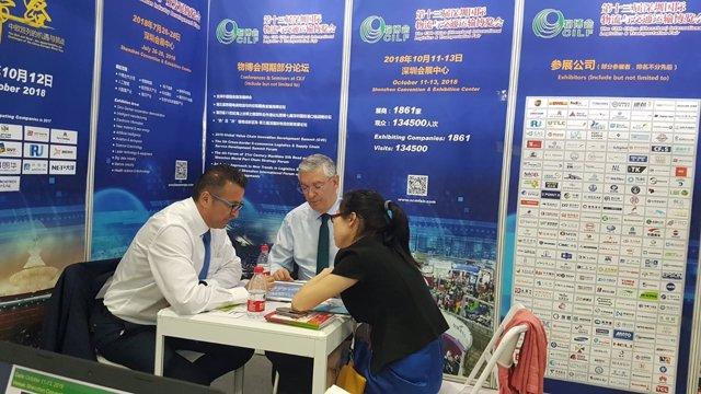 El puerto de Huelva acoge a una feria logística en Shanghai.