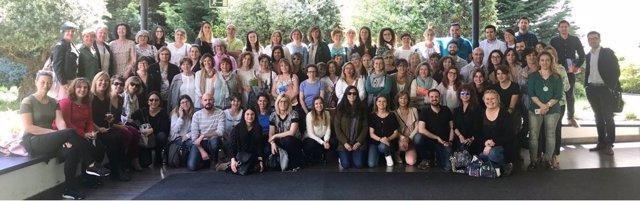 Los participantes en la jornada III del Parkinson