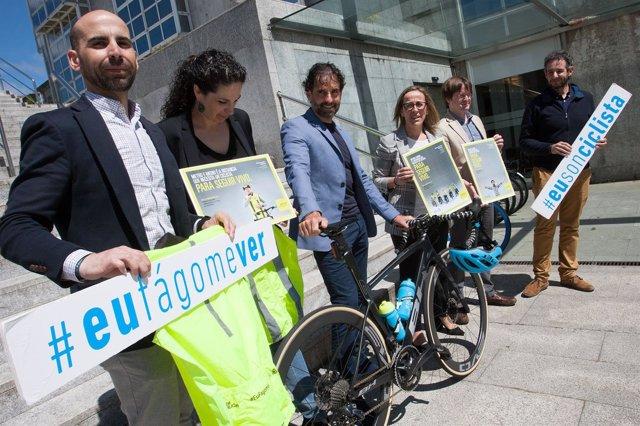 Presentación de la campaña de seguridad viaria 'Eu fágome ver'