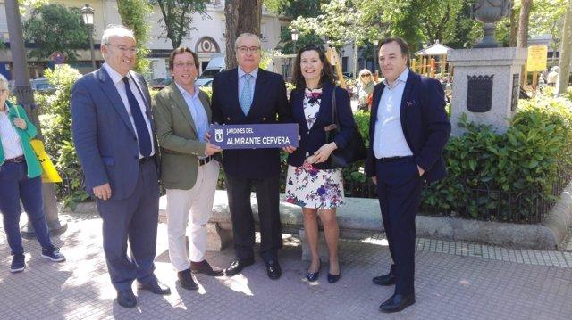 El PP quiere unos Jardines del Almirante Cervera en Madrid