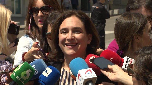 Ada Colau en el Congreso de los Diputados