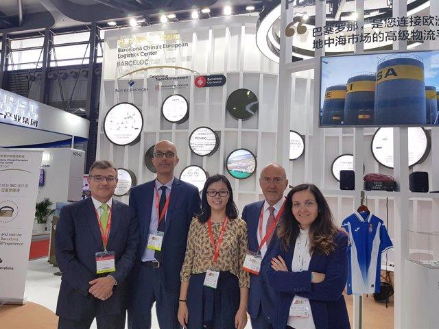 La delegación del Puerto de Barcelona en la feria Transport Logistic China