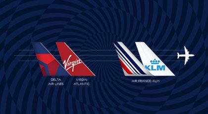 Air France-KLM amplía su 'joint venture' transatlántica con Delta y compra el 31% de Virgin Atlantic