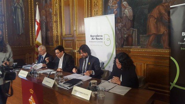 Miquel Valls, Gerardo Pisarello, Ricard Font y Sonia Corrochano