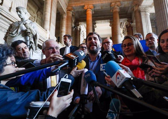 Rueda de prensa del exconsejero catalán Toni Comin en Bruselas