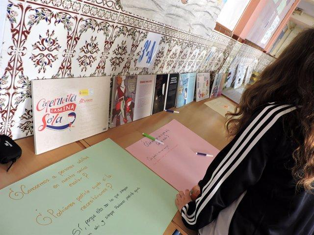 Exposición colegio de estepona promueve proyecto niños autonomia y movilidad