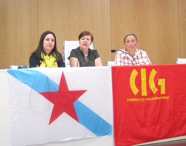 Rueda de prensa de la CIG sobre Inditex