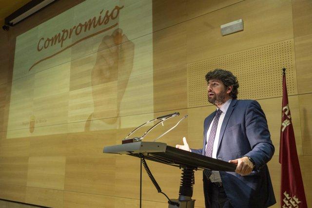 El jefe del Ejecutivo regional, Fernando López Miras
