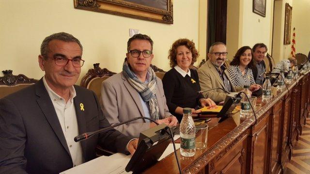 Diputados de ERC en la Diputación de Lleida