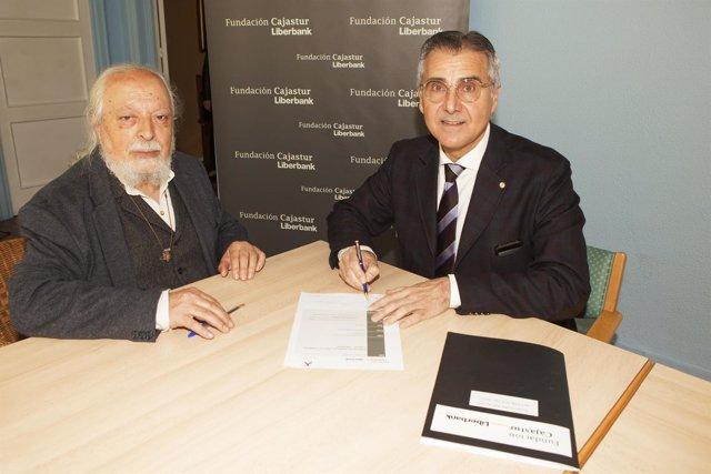 CARLOS SIÑERIZ  FUNDACIÓN  CAJASTUR) Y JOSÉ ANTONIO SANTACLARA ,FUNDACIÓN SILOÉ