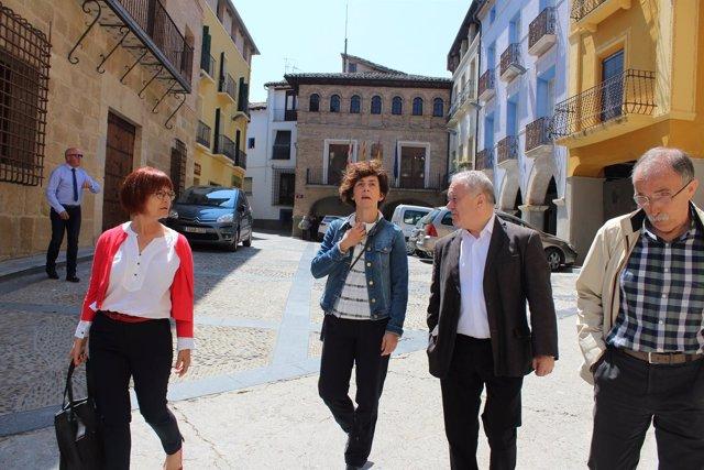 Miguel Gracia ha visitado hoy la localidad de Estadilla