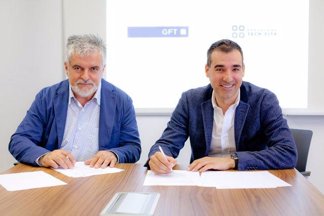 Carlos Eres (GFT) i Miguel Vicente (Barcelona Tech City)