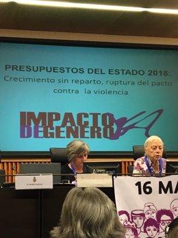 Begoa Sanjosé y Charo Marcos de Impacto de Género en el Congreso
