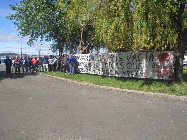 Protesta de mariscadores de Barallobre