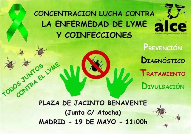 Concentración de los afectados de Lyme en Madrid