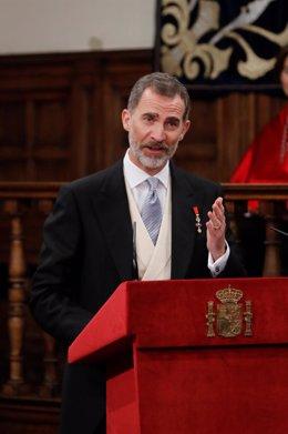 Discurso del Rey Felipe VI en la entrega del Premio Cervantes al escritor Sergio