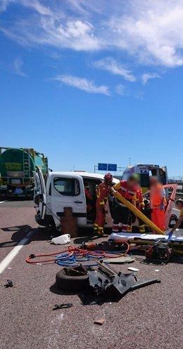 Dispositivo de rescate en la autovía
