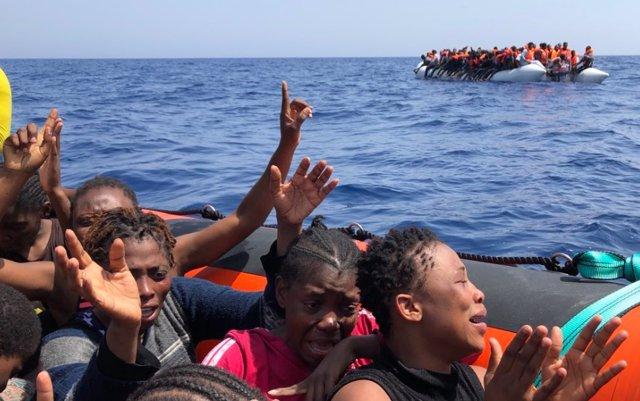 Rescate inmigrantes mediterráneo