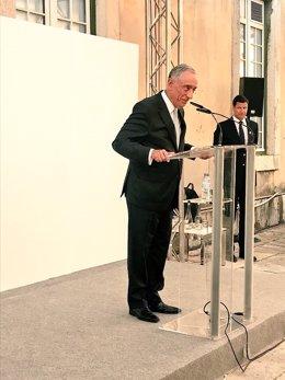 El presidente de Portugal, Marcelo Rebelo de Sousa, inaugura ARCOlisboa 2'18
