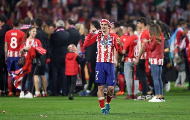 El delantero del Atlético de Madrid Antoine Griezmann