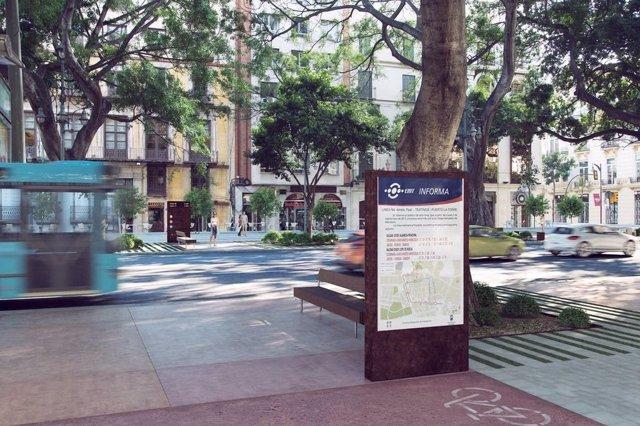 Proyecto renovación Alameda Principal de Málaga