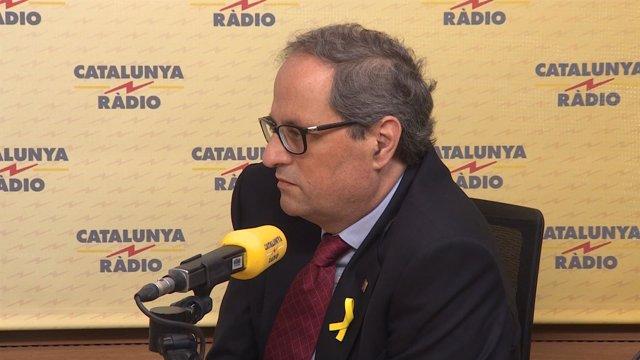 Entrevista al president de la Generalitat, Quim Torra