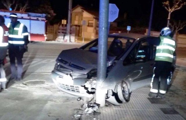 Accidente en Cintruénigo.