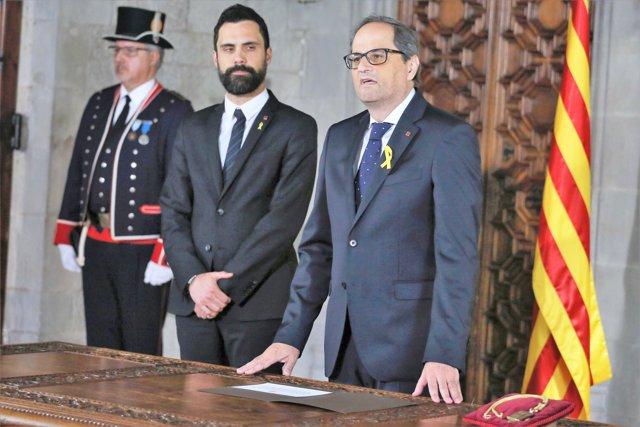 El president Quim Torra i el president del Parlament R.Torrent