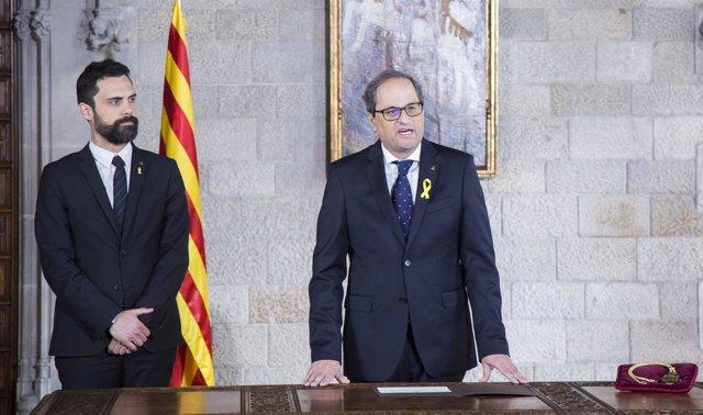 Quim Torra promete el cargo de 131 presidente de la Generalitat
