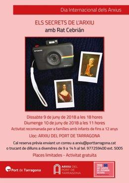 El Archivo del Puerto de Tarragona organiza una actividad de carácter histórico