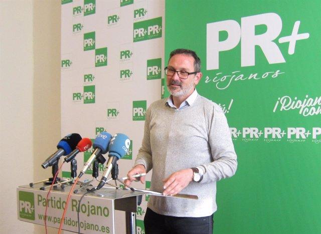 El Presidente Del PR+, Rubén Antoñanzas