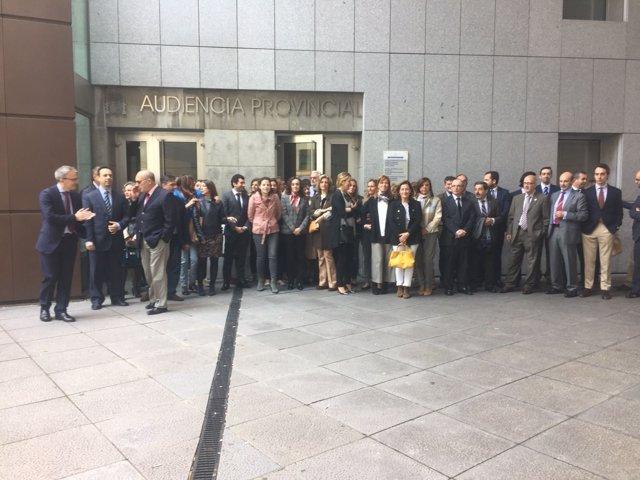Movilización en Oviedo de jueces y magistrados