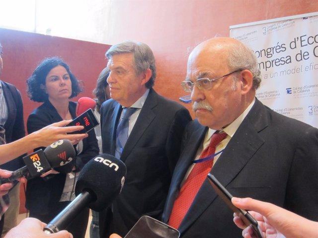 Joan B. Casas y Andreu Mas-Colell (Colegio de Economistas de Catalunya)