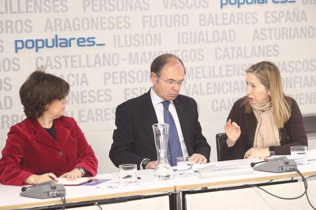 Santamaría, Pío García-Escudero y Ana Pastor en el Comité Ejecutivo del PP