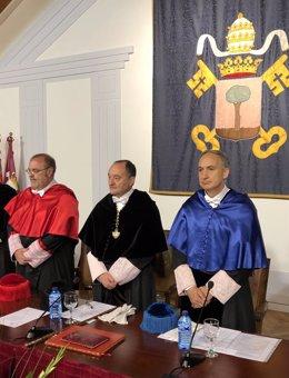 Fernando Rey, Daniel Miguel y Antonio Largo de izquierda a derecha, 17-5-18