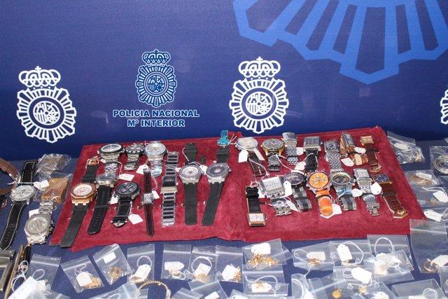 Objetos intervenidos por Policía Nacional