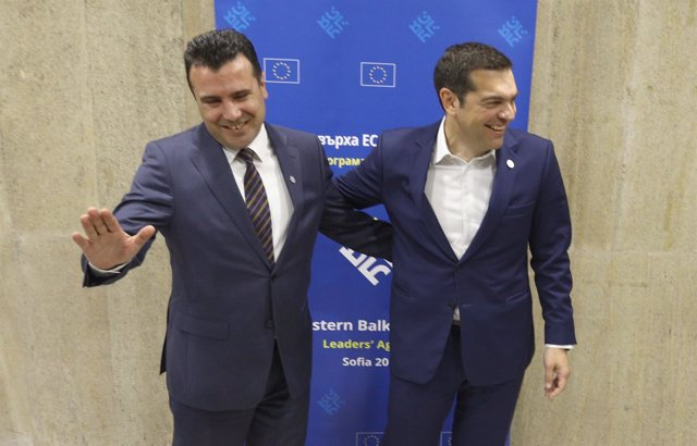 Zoran Zaev y Alexis Tsipras