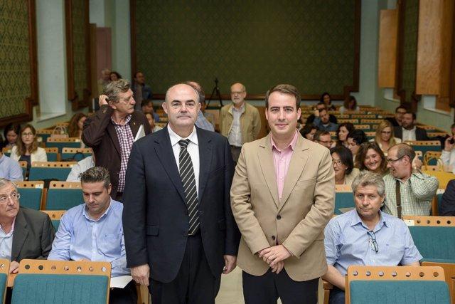 El diputado Fernándo Giménez, en la inauguración de las jornadas Cep@l.