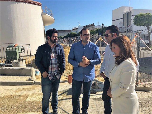 Isabel Moreno, diputada provincial en Cádiz visita obras Profea