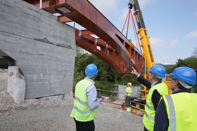 Obras del puente de Golbardo