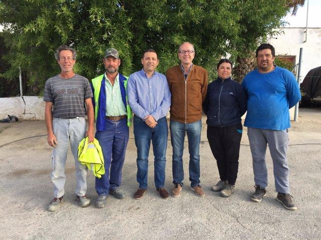 El diputado Guillermo Casquet, en su visita a las obras del PFEA en Sorbas.