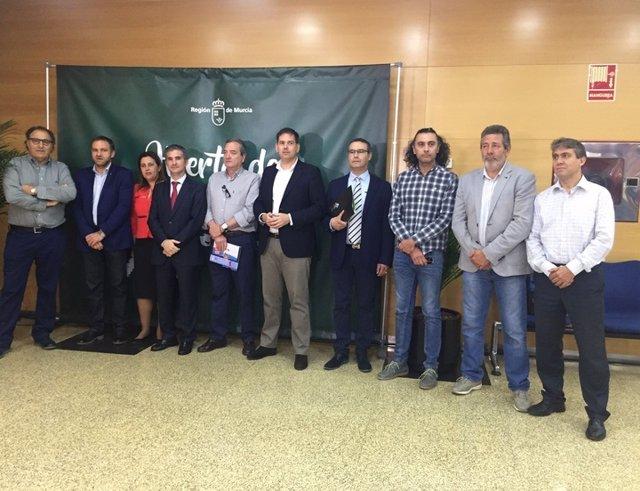 Miguel Ángel Del Amor, Se Reúne Con Representantes Del Sector Agrario
